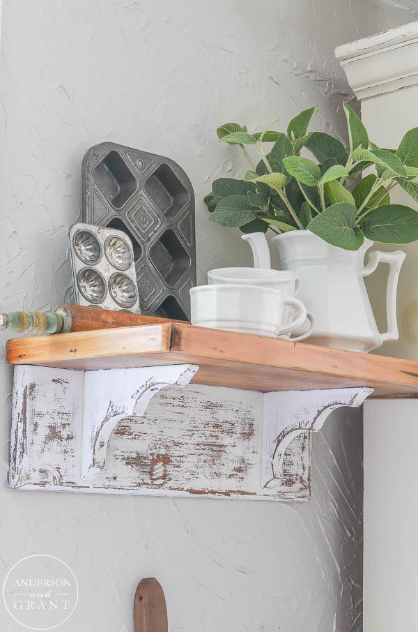 Distressed Farmhouse Shelf  | www.andersonandgrant.com