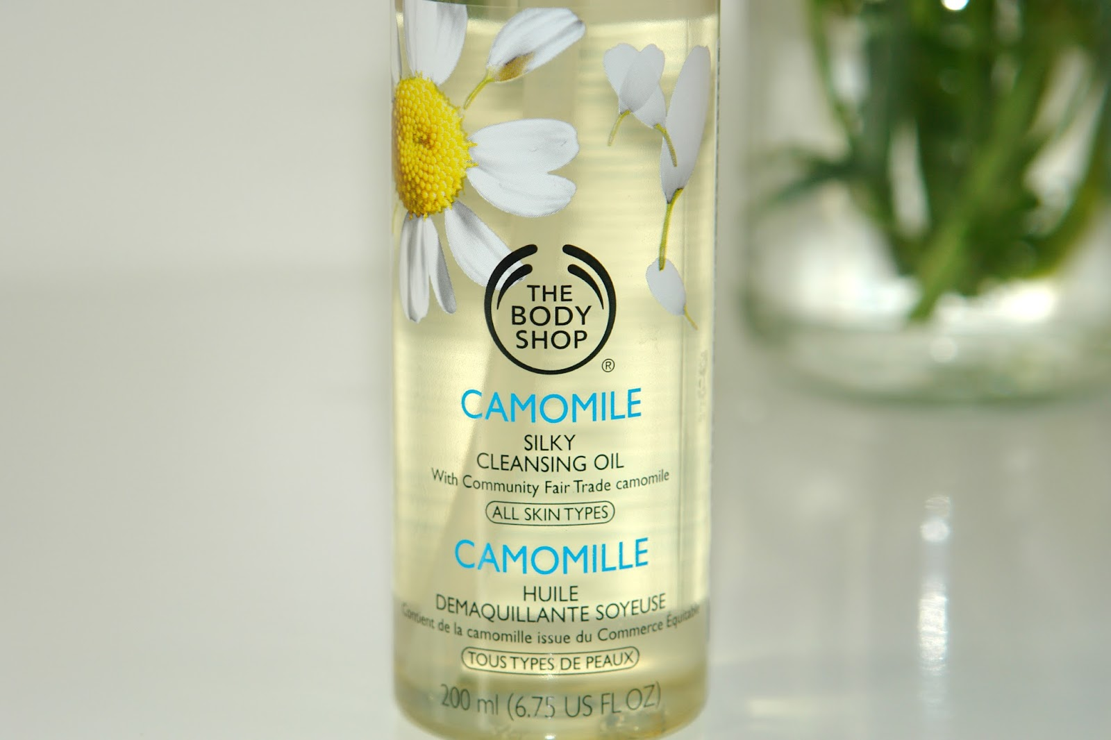 The Body Shop Camomile Silky Cleansing Oil review, beauty, review, skincare, The Body Shop, beauty blogger, top UK blogger, cleansing oil,