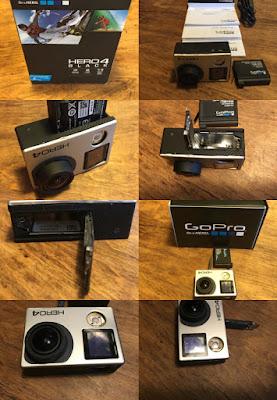 GoPro 4 Black Edition 2ωρων χαλασμένη σπασμένη έπεσε κάτω κι έσπασε.Για ανταλλακτικά ή επισκευή. Έχει χαλάσει η οθόνη τα πλαστικά κουμπιά και δεν μπορείς να ελέγξεις αν ανάβει Ή όχι. Ο φακός είναι τέλειος αγρατζουνιστος ΤΙΜΗ 120 €. Υπάρχει και η μπαταρία μαζί με το καλώδιο φόρτισης μεταφορά δεδομένων επιπλέον ΤΙΜΗ 30 €. Όλα μέσα στο κουτί μετά εγχειρίδια κλπ,κλπ, όπως το βλέπετε στις φωτογραφίες.  Δωρεάν παράδοση με αντικαταβολή+3€ στον χώρο σας! Πληροφορίες μόνο INBOX