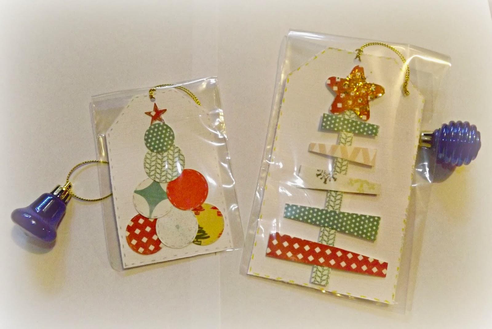 y como tambin la nia sigue queriendo a sus antiguas maestras hemos hecho unos detallitos para ellas tags para colgar en el rbol de navidad
