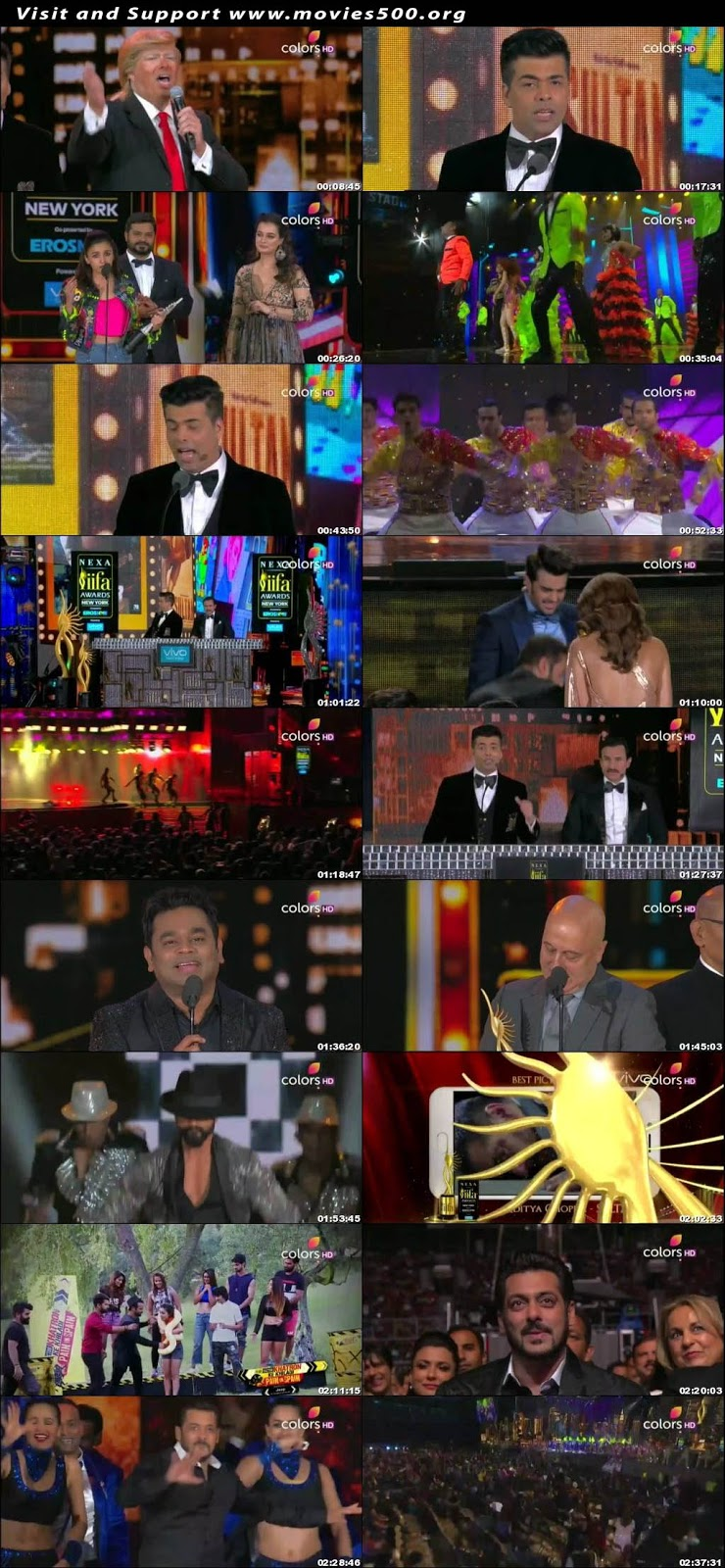 IIFA Awards 18Th 16th July 2017 Hindi Tv Award Show Download at xcharge.net