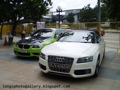 Audi S5 Convertible and BMW M3 E92