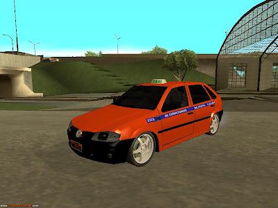 Volkswagen Gol G4 Taxi Porto Alegre Para GTA San Andreas