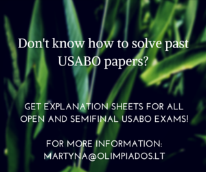 GET EXPLANATIONS FOR USABO PAST PAPERS