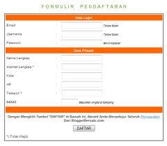 Formulir Daftar Blogger Bersatu