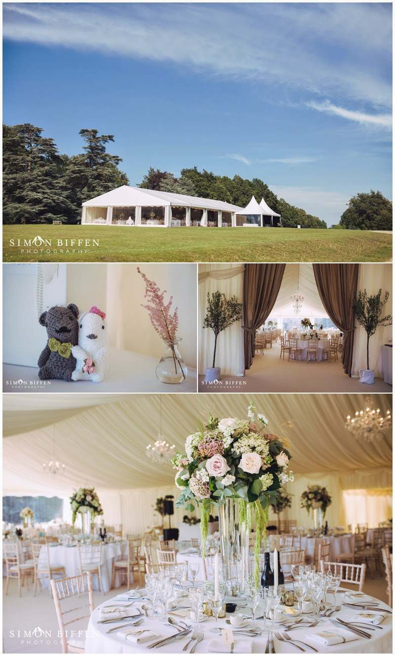 Beautiful marquee wedding styling at Polesdon Lacey