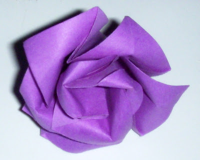 Make Easy Simple Origami Rose Purple 3d Easy Arts And Crafts For Kids