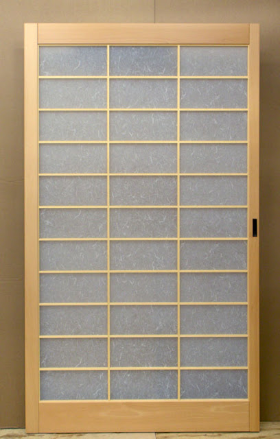 Shoji screen pocket door
