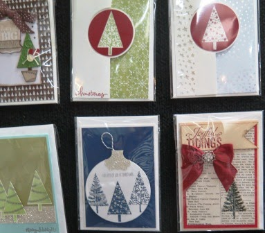 Display board at the Christmas Card Workshop