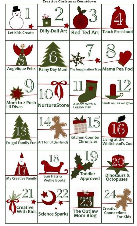 mama pea pod creative christmas countdown day 2 - Christmas Countdown Ideas