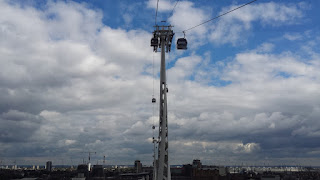 The Emirates Air Line over the river Thames London