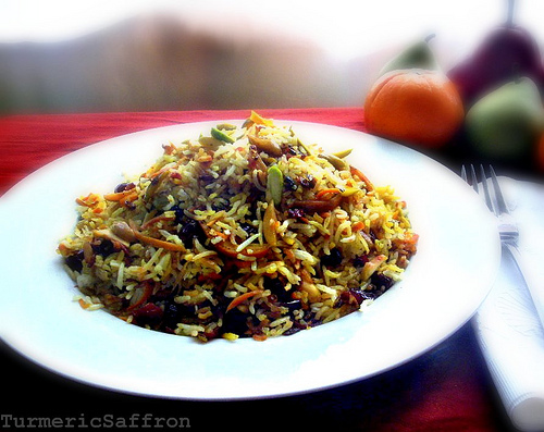 Turmeric & Saffron: Shirin Polow - Persian Sweet Rice