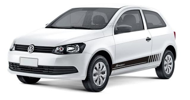 Faixa lateral adesiva VW Gol G5 G¨lançamento 2015 2016