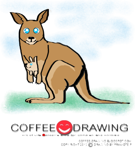 how to draw a kangaroo easy