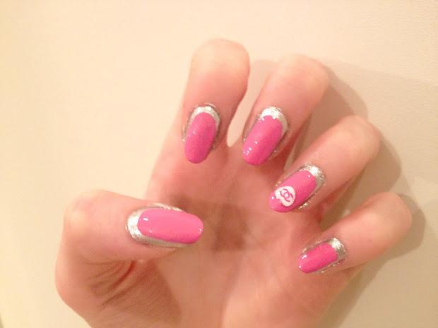 chanel inspired nail art. - hannah