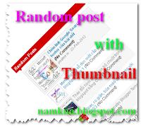 Bài viết ngẫu nhiên có ảnh thmbnail cho blogspot - Random post with thumbnail