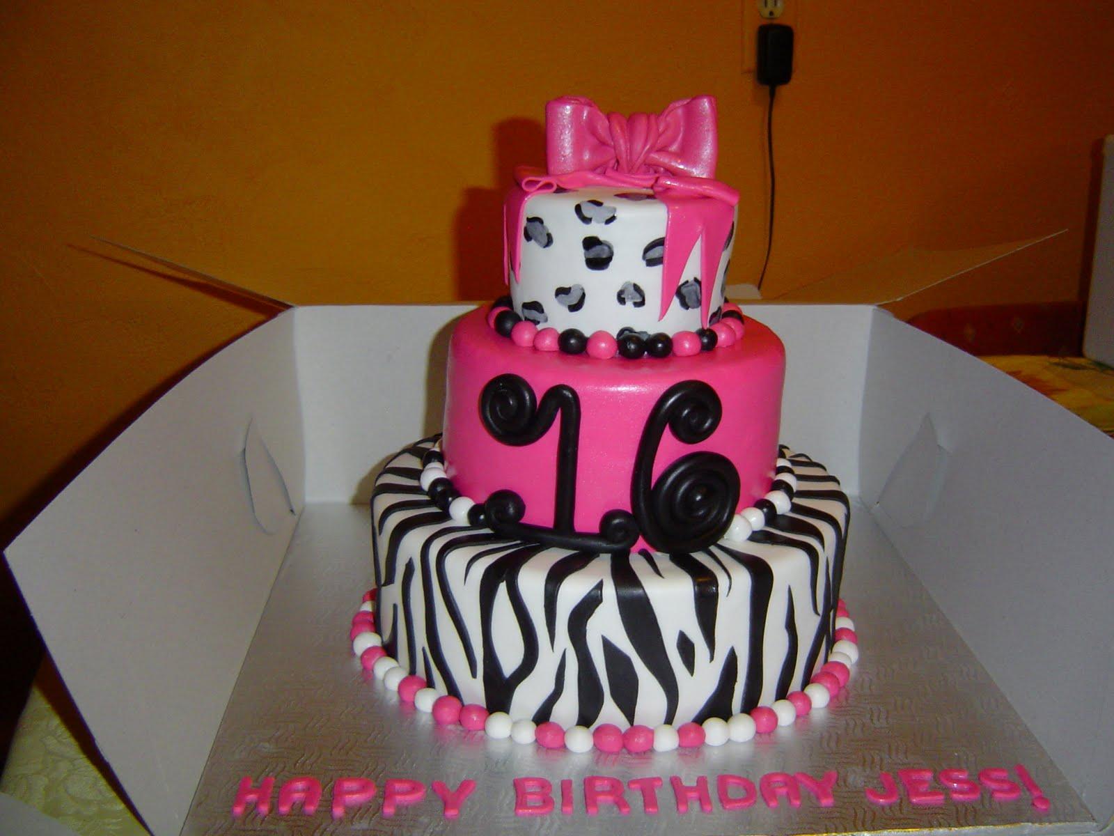 Cakes by Jess Diva Animal Print Sweet 16 Cake