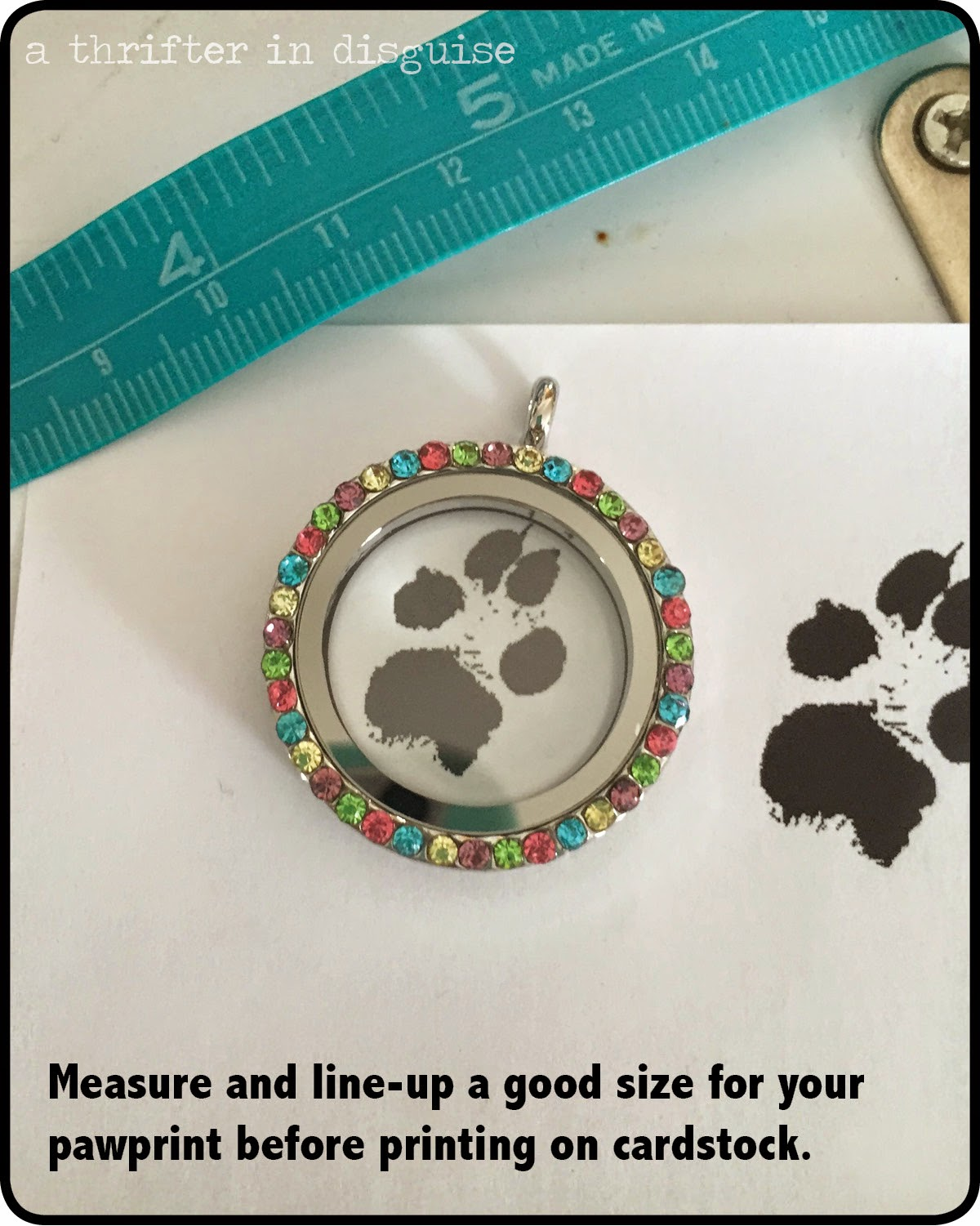 Necklace with dog pawprint