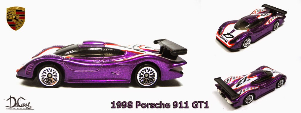 diecast cwb 1 64 collection 1998 porsche 911 gt1. Black Bedroom Furniture Sets. Home Design Ideas