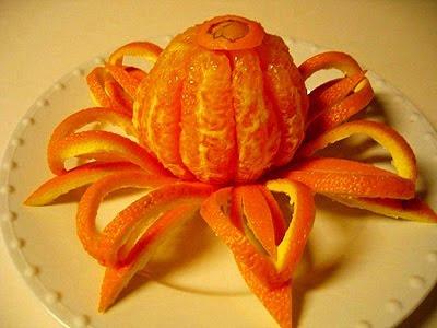 Карвинг на цитрусови плодове