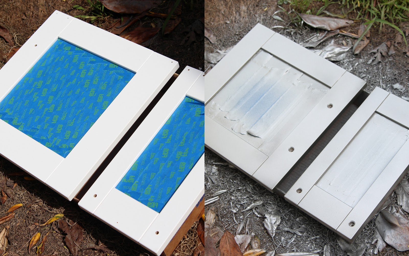 how to keep spray paint from scratching of glassl