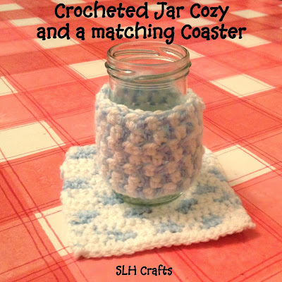 crochet Jar Cozy Coaster