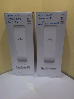 Ubiquiti Nanostation M5 Point to Point Extend Wifi Hotspot