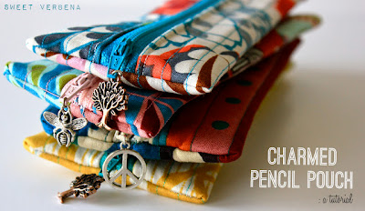 DIY charmed pencil pouch tutorial by sweet verbena