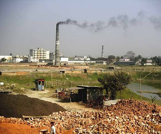 brick making kilns in India which produce black soot