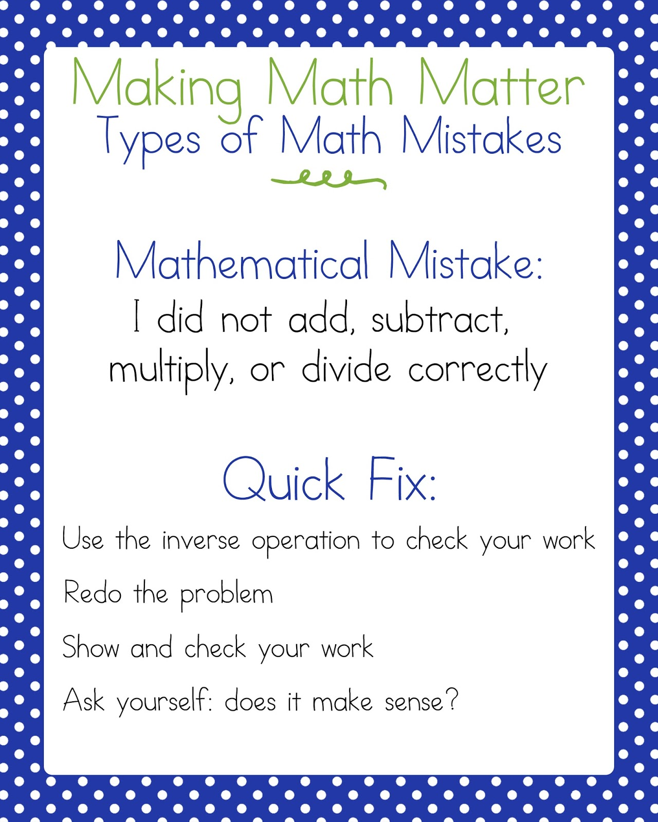 how to not make careless mistakes in math