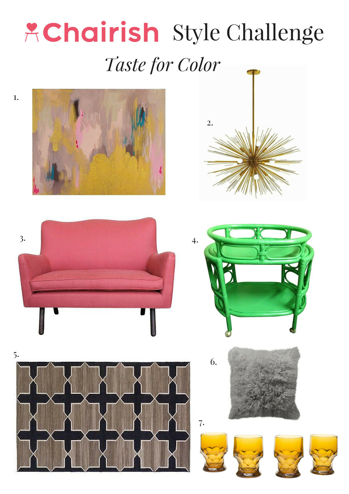 Chairish, Style Challenge, Taste for Color, Color, Interior Design