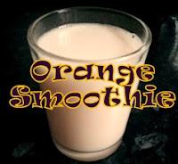 orange smoothie, recipe, method,