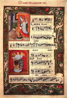 Corale libro usato per le funzioni religiose dai monaci, o per i cori e canti di preghiere