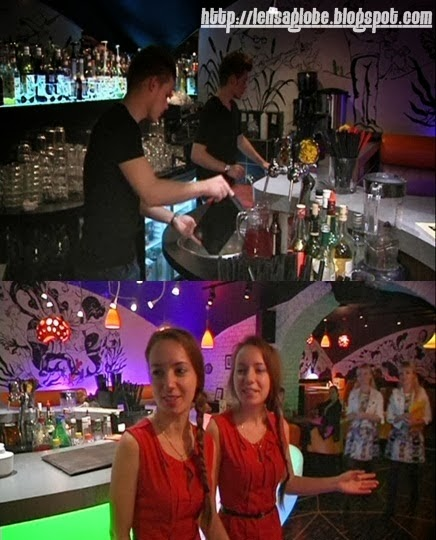 pelayan restoran kembar