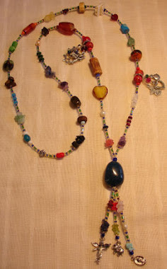 Long Necklace - Multicolor & diferent stones -PP- Nec 5