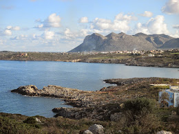 Looking Over Kalathas Bay Toward Stavros, Chania, Crete, March 2015
