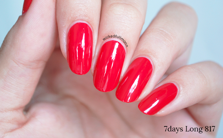 Wicked Fullmoon: | Review & Swatches | Esmaltes 7days Long Summer Collection Deborah Milano.