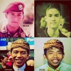 Foto Lucu Jokowi vs Prabowo