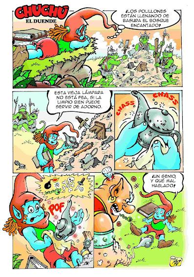 Chuchú y el genio. pagina 1.