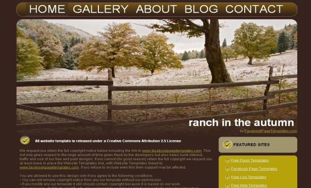 free html mountaines forest website template
