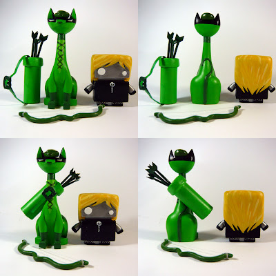 New York Comic-Con 2012 Exclusive The Jelly Empire x Argonaut Resins Tuttz & Jelly Bot Resin Figure Set - Green Arrow & Black Canary