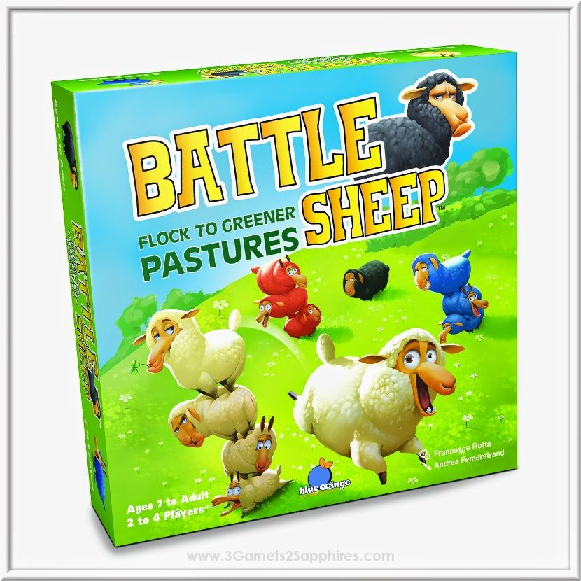 Battle Sheep strategy game by Blue Orange Games | www.3Garnets2Sapphires.com