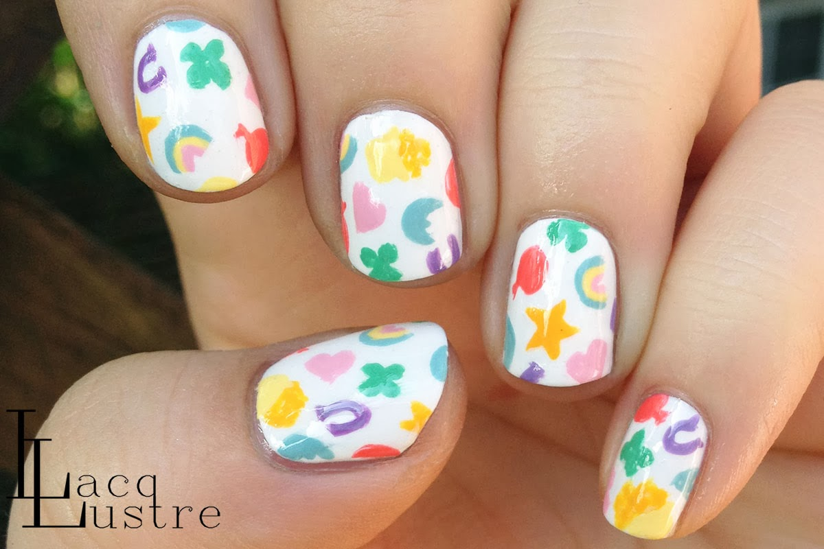 Lucky Charms Nail Art