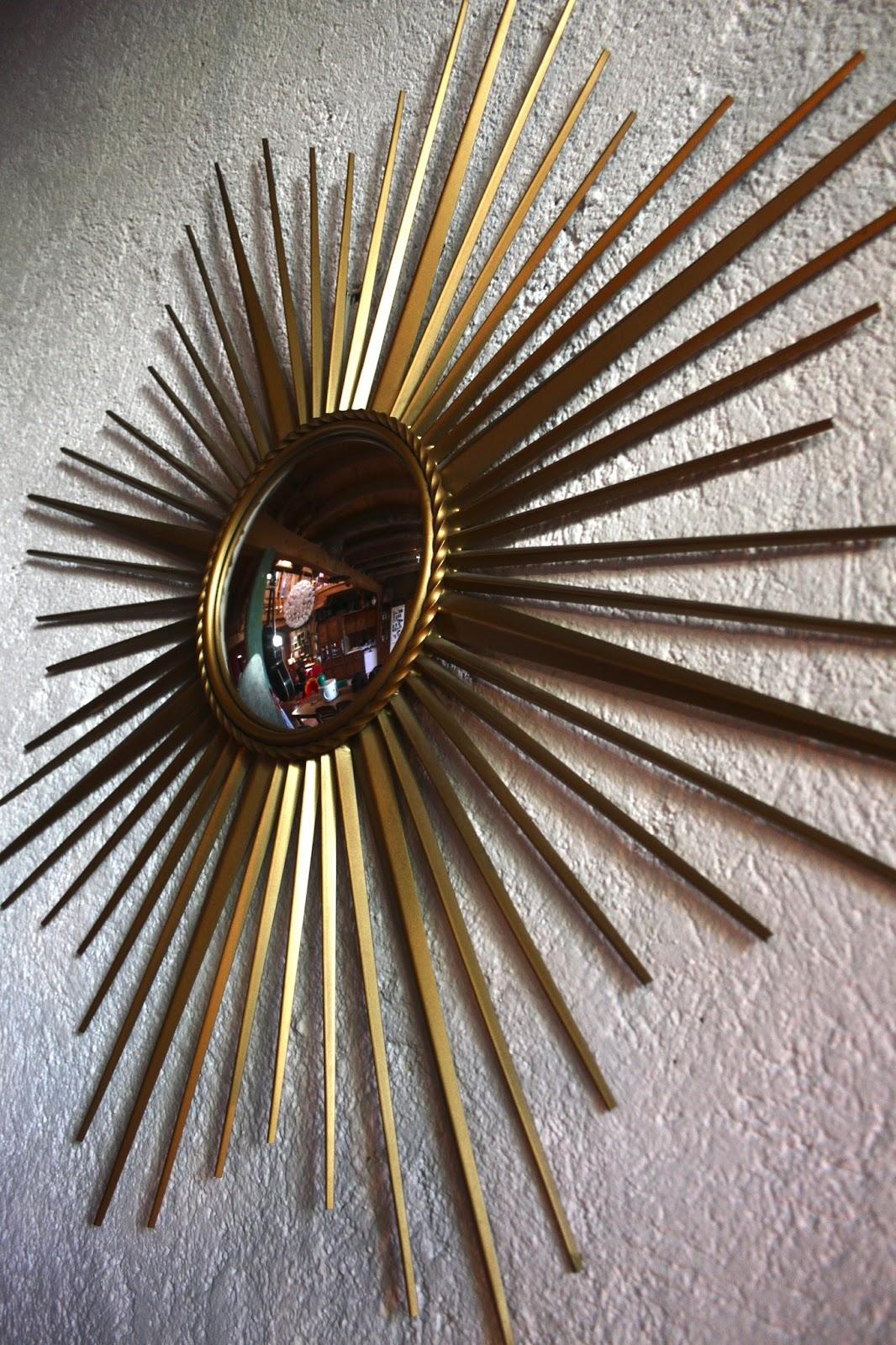 Chicbaazar objets vintage 50 60 70 miroir soleil chaty for Miroir soleil sorciere