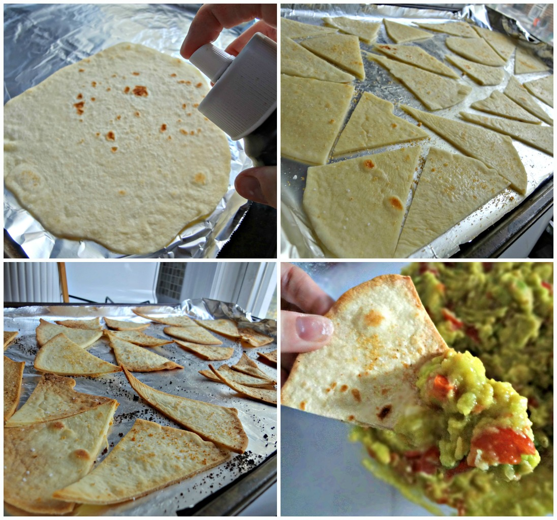 The Cooking Actress: Homemade Baked Tortilla Chips