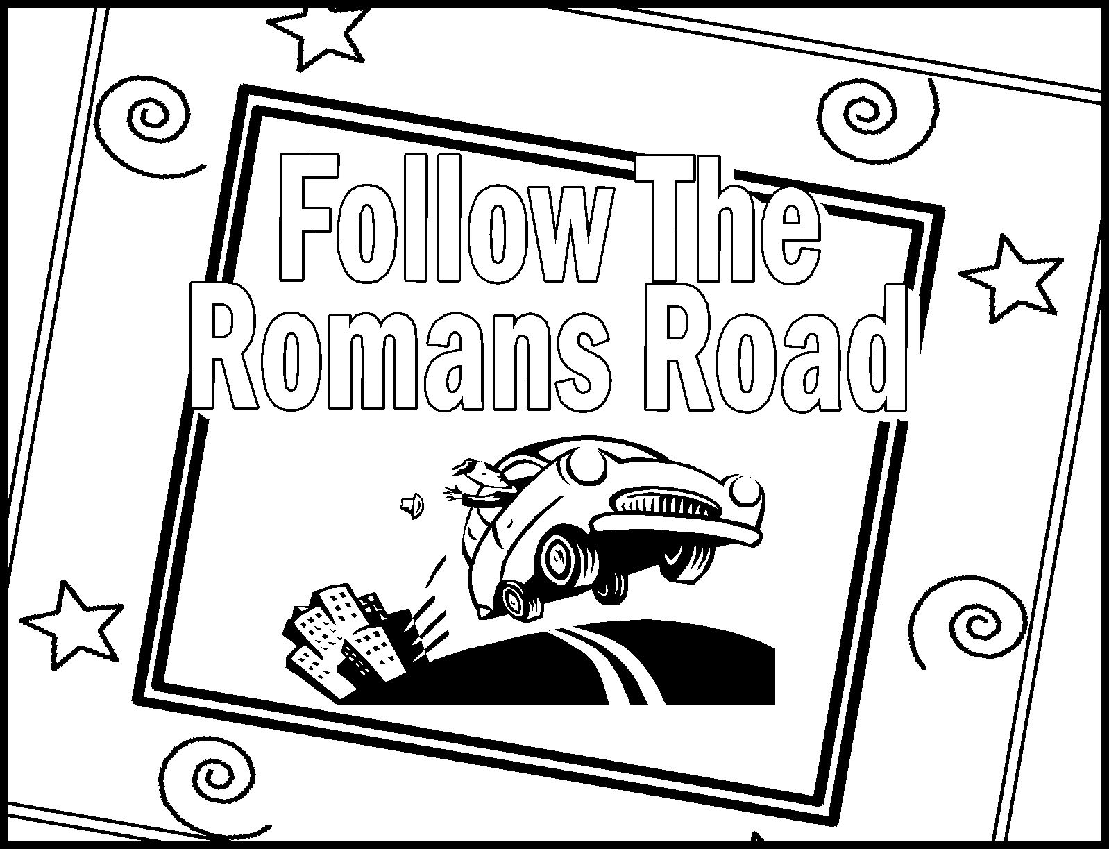 Adult Cute Road Coloring Pages Images top childrens gems in my treasure box romans road coloring sheets images