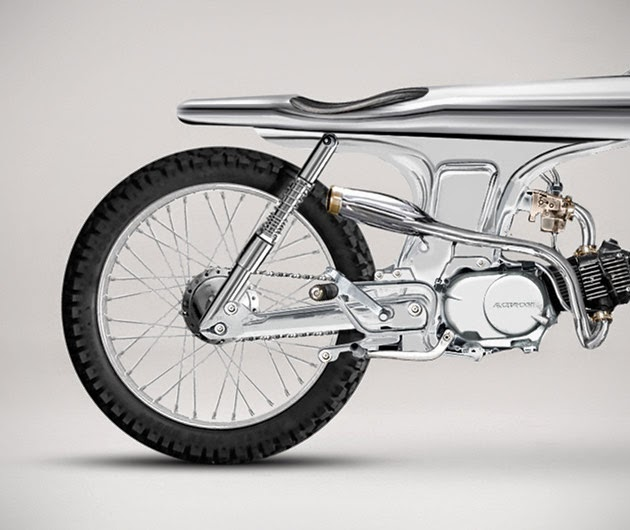 "Bandit9 Eve Motorcycle | ""Custom Honda Motorcycle"" The Bandit9 Eve Motorcycle is among the most beautiful Custom bikes (Custom Honda Motorcycles). Bandit9 Eve Motorcycle is all chrome except for the tires, grips, and saddle, this sleek Steampunk Custom bike is based on a 1967 Honda SS,"