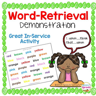 Word Retrieval Demonstration www.speechsproutstherapy.com