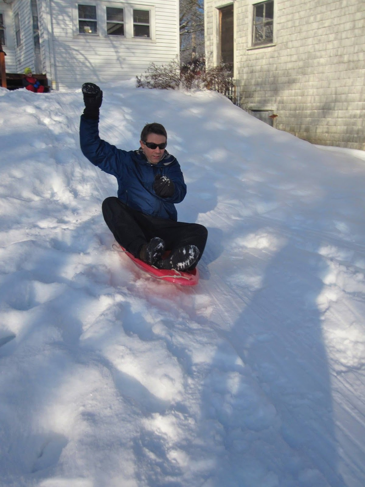 dad's turn on the sled