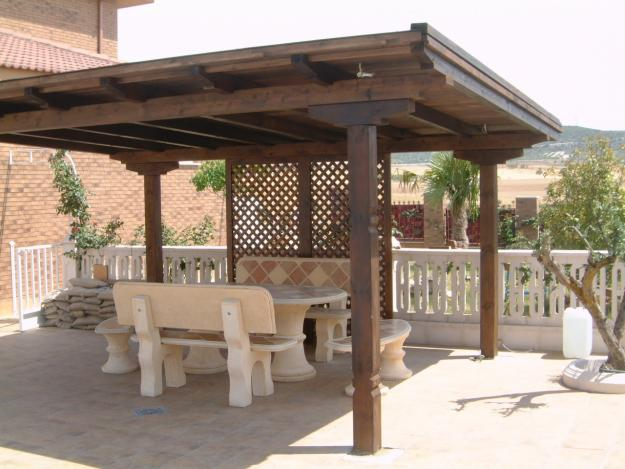 Casa bricolage decora o e artesanato alpendres de madeira - Cenadores alcampo ...